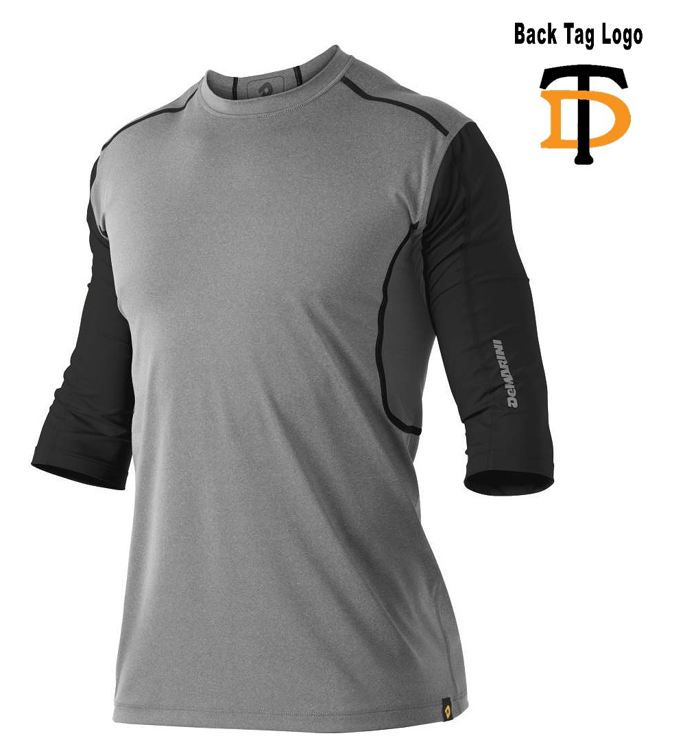 DeMarini Adult Grey/Black Game Day Commotion Mid-Sleeve