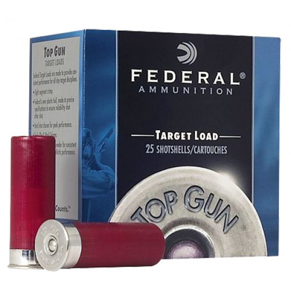 Federal TG20-8 Top Gun Shotshell - 20 Gague, 2-3/4in, 7/8oz, 2-12Dr, Lead, 25Rnd